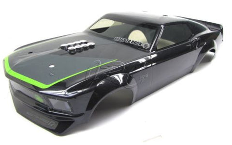 RS4 BODY SHELL GREEN & Black 1969 FORD MUSTANG 109930 HPI nitro 3 evo rtr 112619