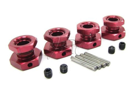 Losi XXL-2 HEX HUBS Nuts (20mm 17mm Red Anodized LST2 LOS04002