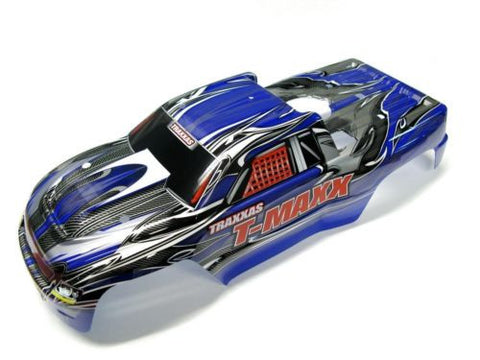 T-Maxx 3.3 BODY shell (BLUE & GREY w/ Decals), 4907 Traxxas