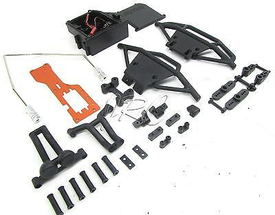 NITRO TROPHY Truggy BUMPERS,  Radio/Radio tray, Roll Bar  (HPI 107014