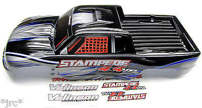 Stampede 4x4 VXL BODY Shell (SILVER & BLUE) Traxxas #67086-3