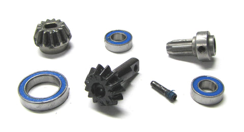 RUSTLER 4x4 BEVEL GEAR & Bearing Set pinion drive hub TRX Slash 4wd Traxxas VXL 67076-4