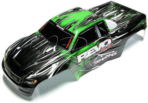 Nitro Revo 3.3 BODY (GREEN, Shell, & Decal, Cover Painted, 5309 Traxxas
