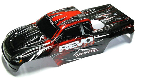 Nitro Revo 3.3 BODY (RED & Decal, Cover Painted Shell , 5309 Traxxas