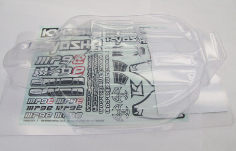 Kyosho Inferno MP9e EVO CLEAR BODY IFB010 shell cover stickers decals KYO34105b