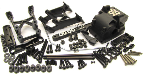Hot Bodies D817 - REAR SUSPENSION (arm mount sway bulkhead HBS204124 Buggy