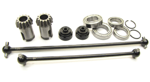 Hot Bodies D817 - CENTER DRIVE SHAFTS (CVD's axles 13t input HBS204124 new Buggy