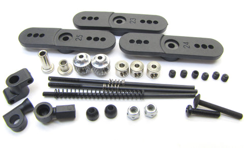Hot Bodies D8T - LINKAGE (Servo Toppers throttle set Tessmann 113391 new Truggy
