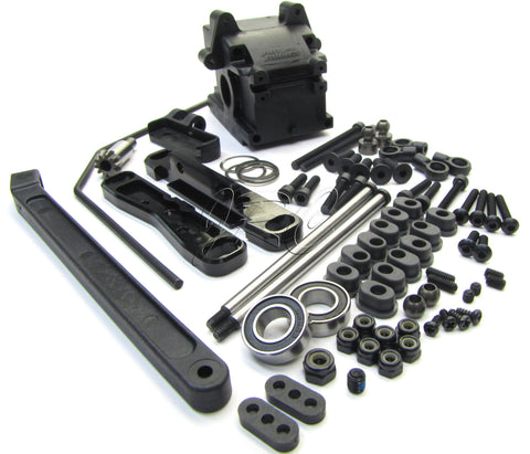 Hot Bodies D8T - REAR SUSPENSION (case, arm mounts sway Tessmann 113391 Truggy