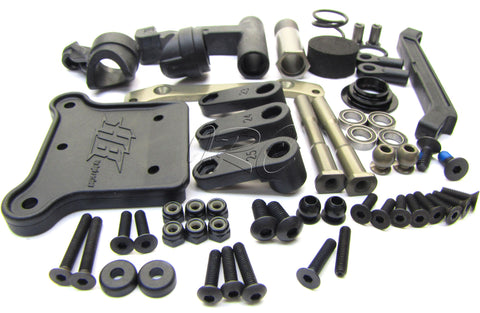 Hot Bodies D8T - STEERING Set (bellcrank, servo saver Tessmann 113391 new Truggy