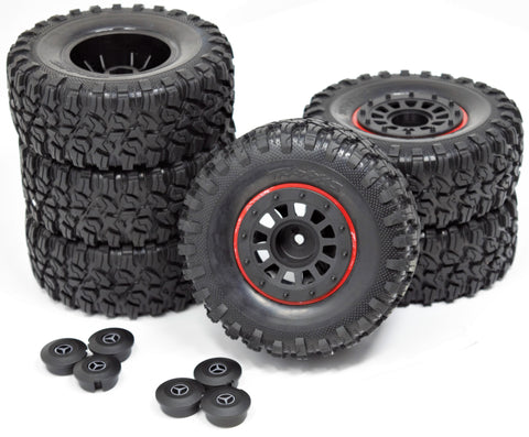 "TRX-6x6 Mercedes-Benz - TIRES & Wheels (Assembled 2.2"" 8874 Traxxas 88096-4"