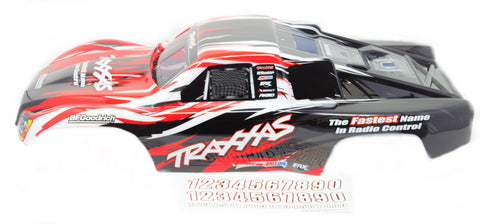 Slayer PRO 4x4 BODY shell, RED (15) Prographix cover & Decals Nitro Traxxas 59074