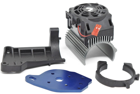 1/10 MAXX Cooling Fan, Heat Sink & Motor Mounts 540xl velineon Traxxas 89076-4