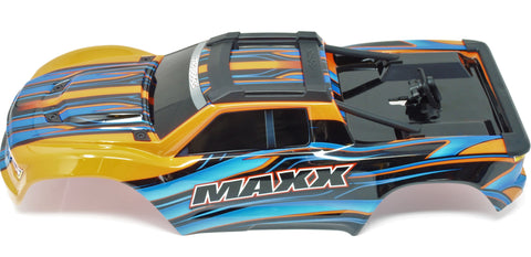1/10 MAXX BODY cover Shell (ORANGE Painted ProGraphics, clipless Traxxas 89076-4