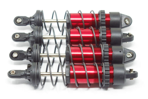 1/10 MAXX SHOCKS (RED-Anodized Gt-maxx 8961r dampers, springs Traxxas 89076-4