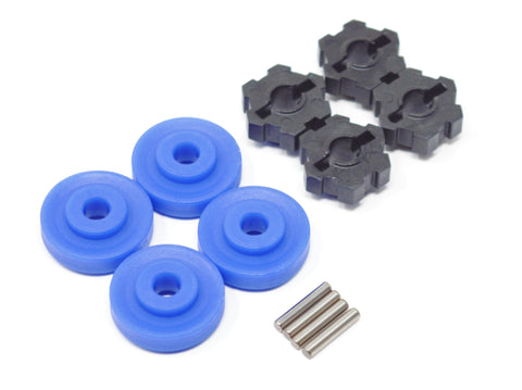 1/10 MAXX Wheel Hubs, (BLUE washer) 17mm Splined, hex pins Traxxas 89076-4