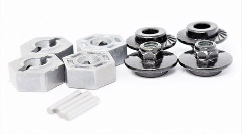 Arrma OUTCAST 4x4 4s BLX - 17mm metal wheel HEX HUBS & pins (kraton ARA102692