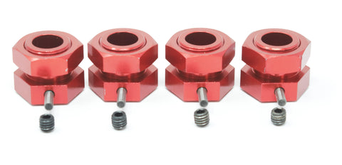 KRATON 8S - 24mm Hex Hubs (red aluminum Wheel nuts pins Arrma 1/5 AR110002