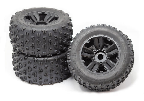 KRATON 8S - TIRES & Wheels (tyres rims DBoots COPPERHEAD2 SB MT Arrma AR110002