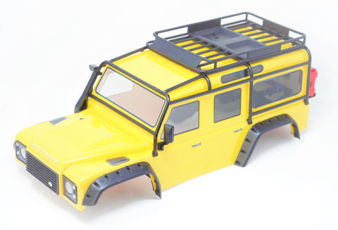 TRX-4 DEFENDER - BODY (Yellow) Spare Tire Fenders Land Rover Trail Traxxas 82056-4