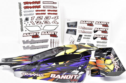 Bandit VXL BODY shell & Wing (PURPLE) painted Shell & decal Traxxas XL-5 24076-3