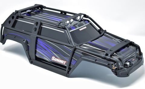Summit UPDATED BODY (PURPLE & BLACK ExoCage Cover exocage Shell Traxxas 56076-4
