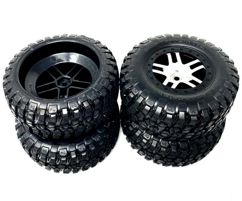 SLASH 4x4 VXL - TIRES & Wheels (BF Goodrich mud terrain Tyres Traxxas 68086-4