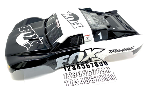 SLASH 4x4 VXL - BODY Shell (Fox Black White decal prographix Traxxas 68086-4