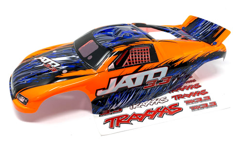 Jato 3.3 BODY shell (ORANGE cover prographix & Decal nitro Traxxas 5507