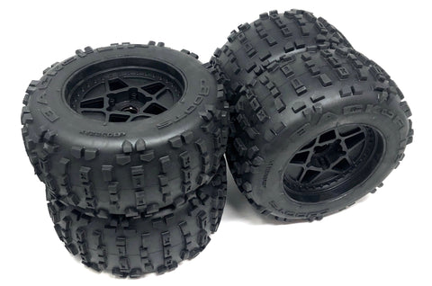 OUTCAST 8S - TIRES & Wheels (tyres rims DBoots BACKFLIP glued Arrma ARA5810