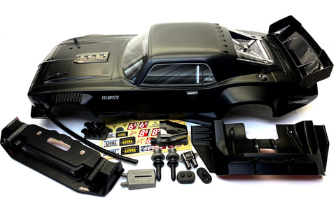 Arrma FELONY 6s - Body Shell (BLACK Resto-Mod muscle Street Bash cover ARA7617V2