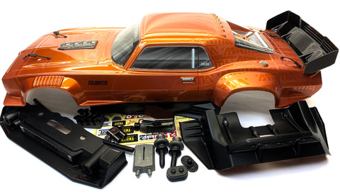 Arrma FELONY 6s - Body Shell (ORANGE Resto-Mod muscle Street Bash ARA7617V2