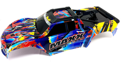 1/10 MAXX BODY cover Shell (Rock & Roll ProGraphics, clipless Traxxas 89076-4