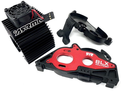 Arrma BIG ROCK 4x4 3s BLX - Aluminum Mount Motor Fan Granite Senton ARA4312v3