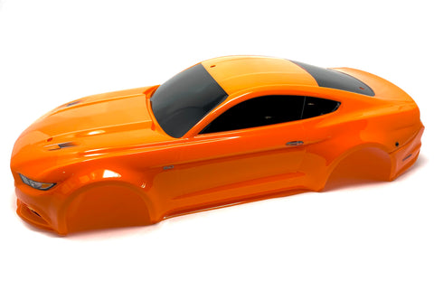 4-TEC 2.0 Ford Mustang Body, Painted Orange 8312 shell cover Traxxas 83044-4