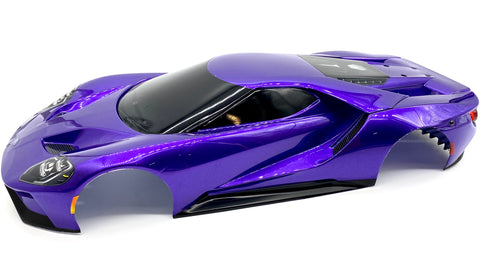4-TEC 2.0 Ford GT Body, Painted PURPLE 8311p shell cover Traxxas 83056-4