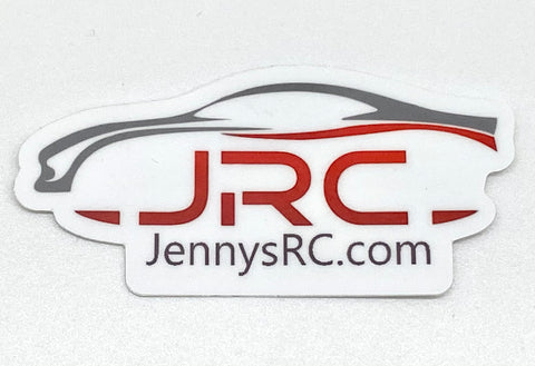 "JRC Decal Die cut Sticker (3"" x 1.43"") Jennys RC Merch"