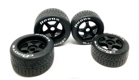 "Arrma FELONY 6s - TIRES & Wheels (tyres ""HOONS"" DBoots belted 5-spoke ARA7617V2"