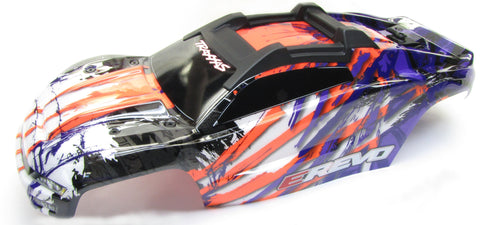 1/10 BRUSHLESS E-REVO 2.0 VXL BODY shell (PURPLE Orange cover clipless 86086-4
