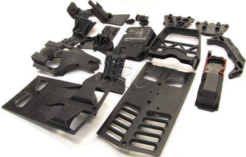 Arrma NERO Skid Plates, radio box, esc tray (Front Rear skidplate mount AR106017