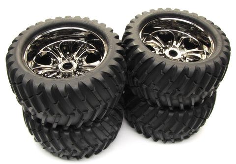 COLOSSUS XT TIRES/TYRES & WHEELS (Glued 23mm, Chrome Rims CEN  9519