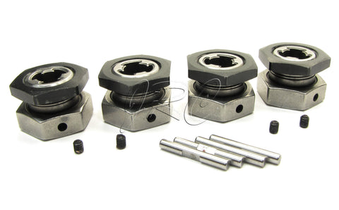 COLOSSUS XT 23mm WHEEL HEX HUB & nut SET (4) pins black GS217 CEN reeper 9519