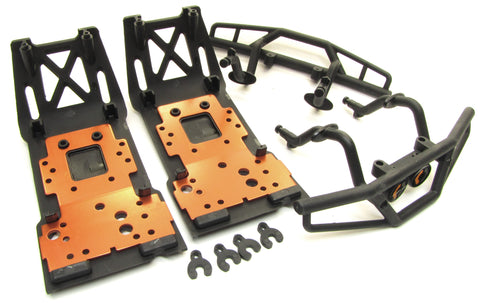 Savage XL FLUX HP Front/Rear SKID PLATES bumpers bulkhead lower plate 112609 HPI