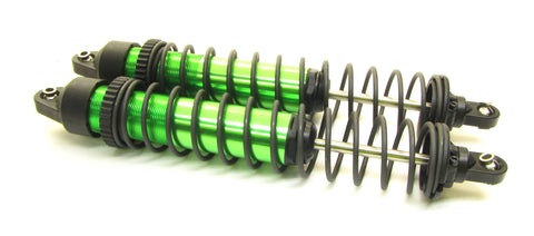 X-MAXX SHOCKS (GTX Aluminum Green-Anodized TRA7761r (2) Springs Traxxas 77086-4