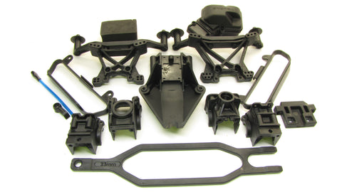 SLASH 4x4 VXL - PLASTIC SET (bulkhead shock towers receiver box Traxxas 68086-4