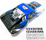 SLASH 4x4 VXL - BODY Shell (BLUE Black White #4 decal prographix Traxxas 68086-4