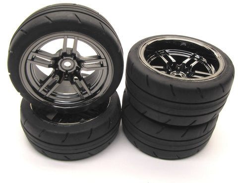 4-TEC 2.0 TIRES, F/R Tyres WHEELS (4) 8373 8374  Traxxas 83056-4