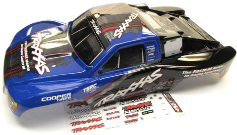SLASH 4x4 OBA TSM - BODY BLUE  (Speakers & Cover Shell & Decals Traxxas 68086-21