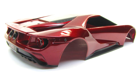 Ford Gt Body Painted Red R Shell Cover Traxxas