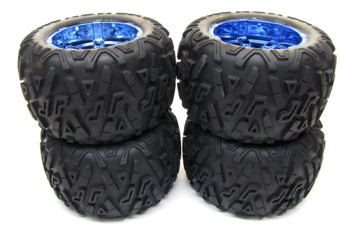 Electric Losi 3XL-E TIRES, Set of 4 (WHEELS & Tyres SBR 40 XXL2 LOS04015